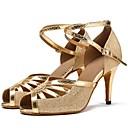 זול נעליים לטיניות-נעליים לטיניות רשת / דמוי עור סנדלים / עקבים שחבור עקב מותאם מותאם אישית נעלי ריקוד זהב