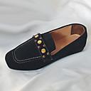 זול נעלי אוקספורד לנשים-בגדי ריקוד נשים PU אביב נוחות נעליים ללא שרוכים שטוח בוהן עגולה שחור / חום / חאקי
