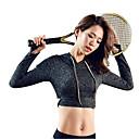 זול בגדי ריצה-בגדי ריקוד נשים טישרט לריצה - סגול, אפור כהה, ירוק ספורט צמרות יוגה, כושר וספורט, חדר כושר שרוול ארוך לבוש אקטיבי עמיד, ייבוש מהיר, לביש