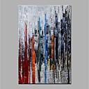 tanie Wydruki-Hang-Malowane obraz olejny Ręcznie malowane - Abstrakcja Nowoczesny Zwinięte płótna / Zwijane płótno