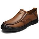 זול מגפי נשים-בגדי ריקוד גברים עור אביב / קיץ נוחות נעליים ללא שרוכים חום / חאקי