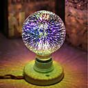 billige Glødelampe-1pc 5 W 450 lm E26 / E27 LED-globepærer / LED-glødepærer G95 28 LED perler Integrert LED Dekorativ / Stjernefull / 3D fyrverkeri Multi-farger 85-265 V / RoHs