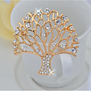 cheap Brooches-Women's Brooches - Tree of Life Elegant Brooch Gold For Party / Ceremony