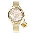 זול ציורי שמן-בגדי ריקוד נשים נשים שעון יד קווארץ חיקוי יהלום סגסוגת להקה אנלוגי פרח יום יומי אופנתי זהב - זהב
