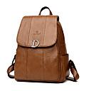 hesapli Sırt Çantaları-Kadın's Çantalar PU sırt çantası Düğme için Ofis ve Kariyer İlkbahar yaz Siyah / YAKUT / Sarı