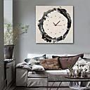 baratos Relógios de Parede em Lona-Estilo Moderno Rústico Mogno Quadrada Interior,Bateria