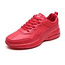 זול נעלי ספורט לגברים-בגדי ריקוד גברים PU אביב / סתיו נוחות נעלי אתלטיקה ריצה לבן / שחור / אדום