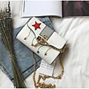 cheap Shoulder Bags-Women's Bags PU Shoulder Bag Buttons White / Black / Gray