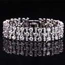 preiswerte Damen Stiefel-Damen Synthetischer Diamant Armband - versilbert Armbänder Silber / Blau / Rosa Für Hochzeit Party