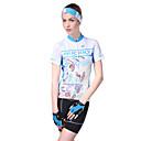 preiswerte Radsport Jacken-Nuckily Damen Kurzarm Fahrradtriktot mit Fahrradhosen - Blau Fahhrad Shorts / Laufshorts / Trikot / Radtrikot / Kleidungs-Sets, Wasserdicht, Atmungsaktiv, 3D Pad, Reflexstreiffen, Schweißableitend
