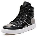 זול נעלי ספורט לגברים-נעליים מיקרופייבר PU סינתטי חורף סתיו נוחות נעלי ספורט ל קזו'אל בָּחוּץ לבן שחור