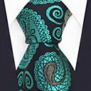 baratos Acessórios Masculinos-gravata do rayon do trabalho do partido dos homens - jacquard de paisley do bloco da cor, cruzado