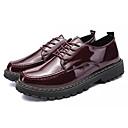 זול נעלי אוקספורד לגברים-בגדי ריקוד גברים PU אביב / סתיו נוחות נעלי אוקספורד שחור / בורדו