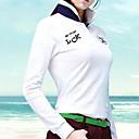 זול בגדי גולף-בגדי ריקוד נשים גולף רוכסן עליון ייבוש מהיר עמיד לביש נשימה גולף פעילות חוץ