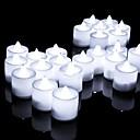 رخيصةأون إضاءة عصرية-24pcs أدى شمعة متعدد الألوان مصباح محاكاة لون لهب الشاي ضوء حفل زفاف المنزل الديكور عيد دروبشيبينغ