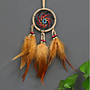 cheap Wall Decor-Wall Decor Feather/Fur European Wall Art, Dreamcatcher of 1