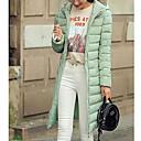 billige Treningsko til damer-Dame Med hette Lang Polstret - Ensfarget, Moderne Stil