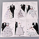 זול הזמנות לחתונה-מקפלי צד הזמנות לחתונה 6 סטים - כרטיסי הזמנה ערכות הזמנות סגנון אמנותי סגנון וינטג' סגנון כלה וחתן נייר עם תבליטים מובלט
