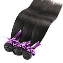 olcso Természetes színű póthajak-Brazil haj Egyenes Az emberi haj sző 3 csomag Emberi haj sző Fekete Human Hair Extensions Női