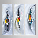 preiswerte Abstrakte Gemälde-Hang-Ölgemälde Handgemalte - Abstrakt Zeitgenössisch Einfach Modern Segeltuch