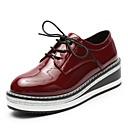 זול נעלי אוקספורד לנשים-בגדי ריקוד נשים נעליים גומי סתיו / חורף נוחות נעלי אוקספורד עקב נמוך בוהן עגולה שחור / בורדו