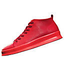 זול נעלי ספורט לגברים-בגדי ריקוד גברים PU חורף נוחות נעלי ספורט לבן / שחור / אדום