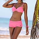 abordables Redes de mosquitos-Mujer Bikini - Espalda al Aire, Color sólido Con Tirantes