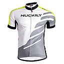 cheap Cell Phone Cases & Screen Protectors-Nuckily Men's Short Sleeve Cycling Jersey - Green Geometic Holiday Curve Bike Jersey Top, Breathable Quick Dry Anatomic Design Polyester / Stretchy / SBS Zipper / Reflective Strips / Sweat-wicking