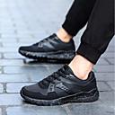 זול נעלי ספורט לגברים-נעליים מיקרופייבר PU סינתטי אביב סתיו נוחות נעלי ספורט ל קזו'אל שחור כחול כהה שחור אדום