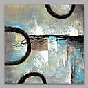 זול ציורים מופשטים-ציור שמן צבוע-Hang מצויר ביד - מופשט מודרני בַּד
