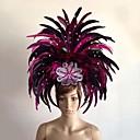 hesapli Halloween Malzemeleri-Karnaval Şapkalar / Samba Başörtüsü Yeşil / Mavi / Fuşya Tüy Cosplay Aksesuarları Karnaval / Maskeli Balo Kostümler