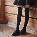 זול הלבשה תחתונה וגרביים לבנות-לְבָנִים כותנה אביב סתיו אחיד בנות פעיל סטרצ'י (נמתח) שחור אפור כהה