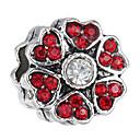 זול חרוזים-פרח חרוזים תכשיטים DIY - אבן נוצצת אדום / כחול בהיר / כחול ים צמידים שרשראות