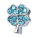 זול חרוזים-תכשיטים DIY 10 יח חרוזים אבן נוצצת סגסוגת לבן סגול ורוד פנינה אדום כחול בהיר ריבוע חָרוּז 1.1 cm עשה זאת בעצמך שרשראות צמידים