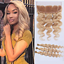 cheap One Pack Hair-3 Bundles with Closure Malaysian Hair Body Wave Human Hair Hair Weft with Closure Human Hair Weaves Human Hair Extensions