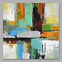 baratos Pinturas Abstratas-Pintura a Óleo Pintados à mão - Abstrato Modern Incluir moldura interna / Lona esticada
