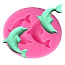 cheap Bakeware-Dolphin Silicone Cake Mold 3D Fondant Soap Chocolate Candy Sugarcraft Mould