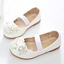baratos Sapatos de Menina-Para Meninas Sapatos Couro Ecológico Primavera / Outono Conforto / Inovador / Sapatos para Daminhas de Honra Rasos Laço / Miçangas /
