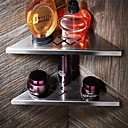 billige Toalettrullholdere-Hylle til badeværelset Veggmontering Rustfritt Stål 2pcs - Hotell bad