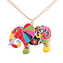 cheap Earrings-Women's Pendant Necklace - Elephant European, Fashion, Colorful Gold Necklace Jewelry For Daily