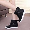 זול סניקרס לנשים-בגדי ריקוד נשים נעליים בד קיץ נוחות נעלי ספורט שטוח בוהן סגורה שחור / אפור