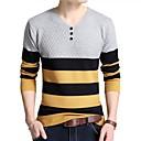 זול הדפסי בד מגולגל-פסים - סוודר שרוול ארוך צווארון V עבודה בגדי ריקוד גברים