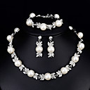 cheap Jewelry Sets-Women's Jewelry Set - Pearl European, Fashion, Elegant Include White For Wedding Daily