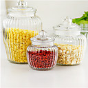 cheap Jars & Boxes-Glass Creative Kitchen Gadget Bulk Food Storage 3pcs Kitchen Organization