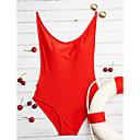 ราคาถูก ชุดว่ายน้ำแบบวันพีช-สำหรับผู้หญิง แข็ง คล้องไหล่ ขาว สีดำ แดง ชิ้นหนึ่ง ชุดว่ายน้ำ - สีพื้น S M L ขาว / ไร้สาย