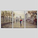 tanie Pejzaże-Ręcznie malowane Krajobraz Pionowo Panoramiczny, Nowoczesny Hang-Malowane obraz olejny Dekoracja domowa Trzy panele