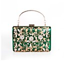 cheap Totes-Women's Bags Polyester Evening Bag Crystals / Flower Black / Silver / Red