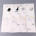 baratos Convites de Casamento-Dobrado de Lado Convites de casamento Pacote de 8 - Conjuntos de Convites Cartões de convite Estilo Artístico Monograma Estilo Noiva e