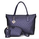 baratos Sapatos de Salto-Mulheres Bolsas PU Conjuntos de saco 3 Pcs Purse Set Ziper Rosa / Cinzento Escuro / Azul Escuro