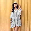 abordables Accesorios para el Cabello-Mujer Vintage Algodón Línea A Vestido Un Color Alta cintura Midi / Primavera
